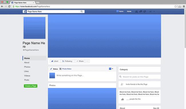 facebook主页