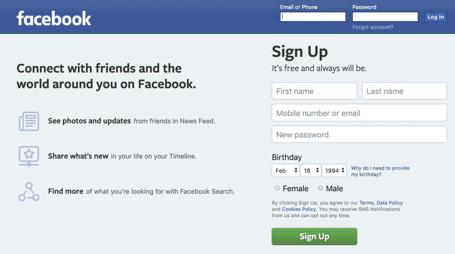 facebook 账户