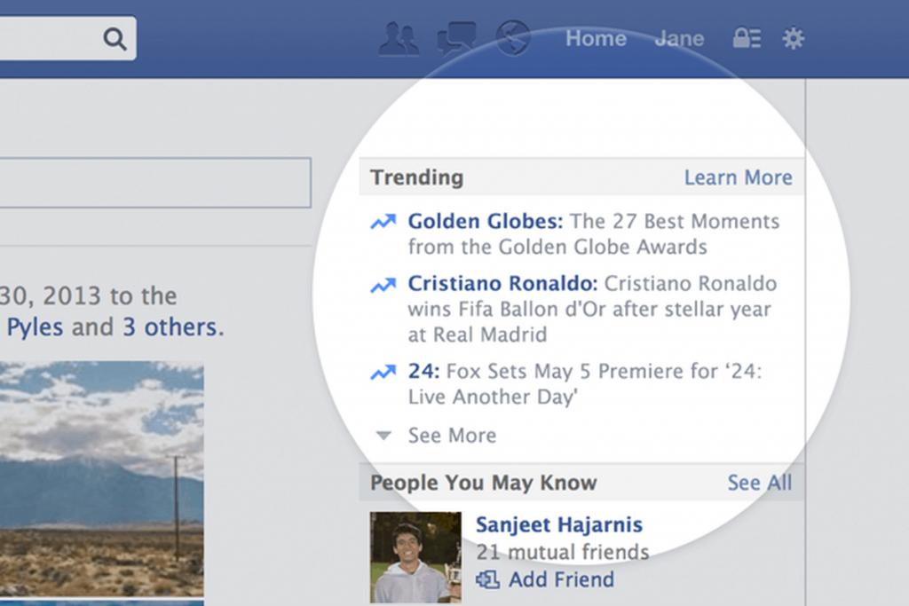 facebook 热门话题