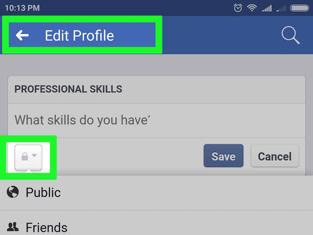 facebook 个人资料